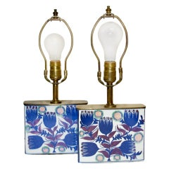 Pair of Royal Copenhagen Lamps