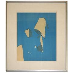 "Nicolas De Stael ""Formes en Bleu"""