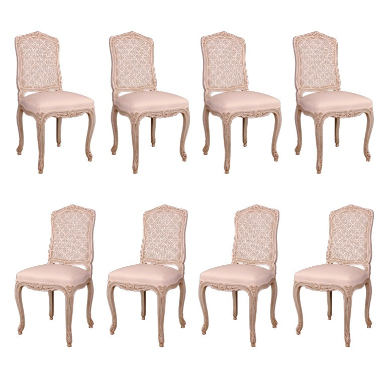 Set of 8 french antique louis xv style caned back dining chairs at 1stdibs - Reasons choosing vintage style furniture ...