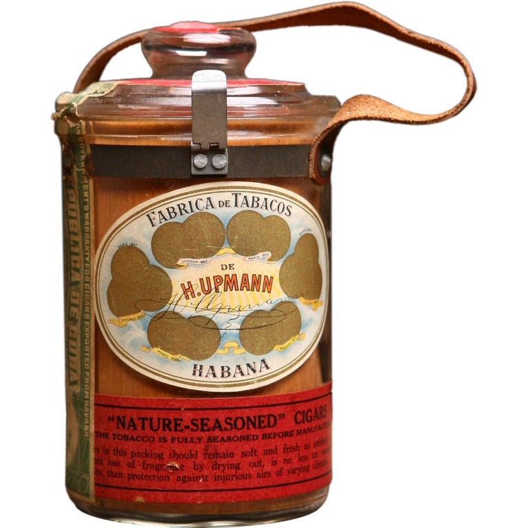 H Upmann Fabrica De Tabacos Habana Cuban Vintage Cigar Jar At 1stdibs