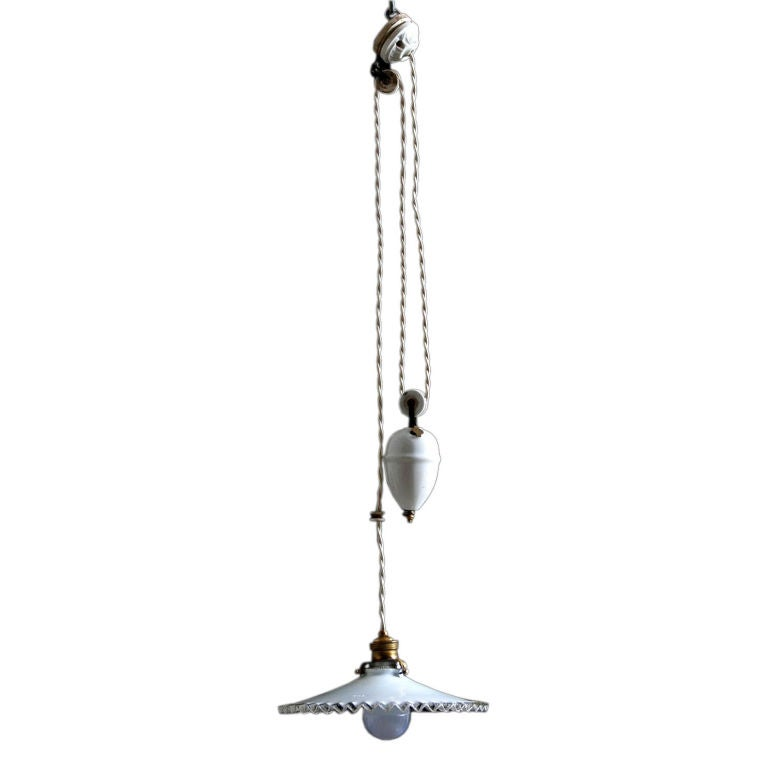of 3 vintage belgian pendant pulley system light fixtures at 1stdibs. Black Bedroom Furniture Sets. Home Design Ideas