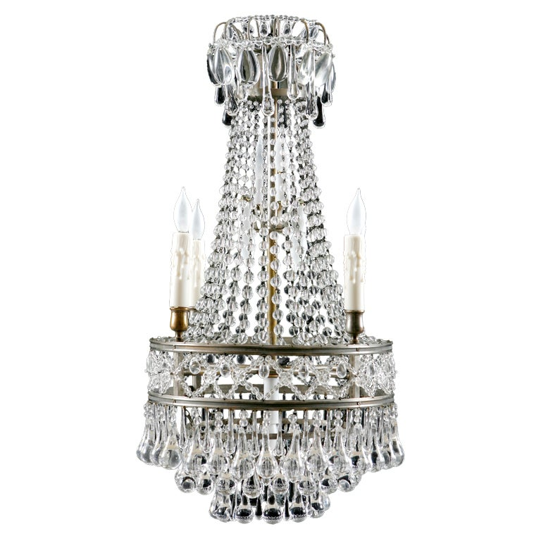 Beautiful French Antique Crystal Chandelier At 1stdibs