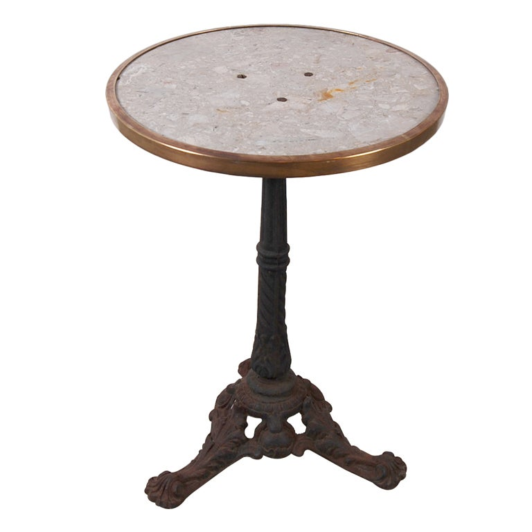 French Antique Marbletop Cast Iron Bistro Table at 1stdibs : XXX843513406555701 from www.1stdibs.com size 768 x 768 jpeg 37kB