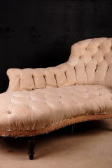 french antique napoleon iii period meridienne chaise longue at 1stdibs. Black Bedroom Furniture Sets. Home Design Ideas