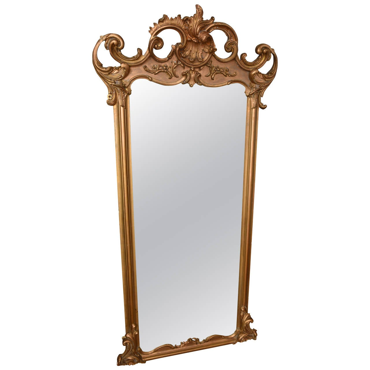 french gilt standing or wall mirror at 1stdibs