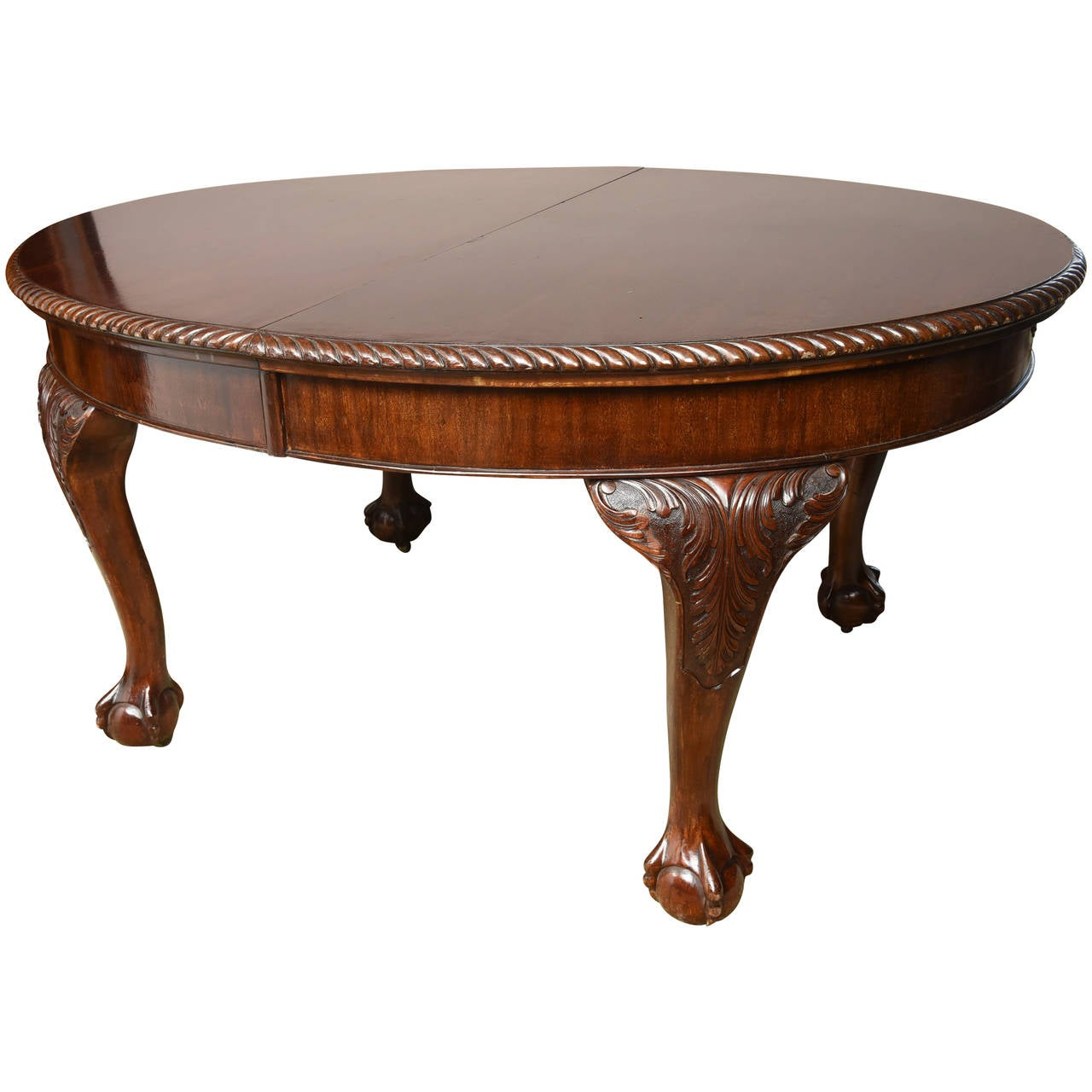 English chippendale style mahogany oval dining table at Oval dining table