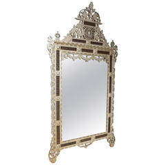 Superb Large 19th Century Ottoman, Syrian Mother of Pearl Mirror