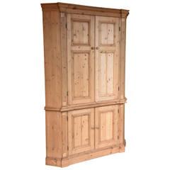 Large Pine Corner Cupboard