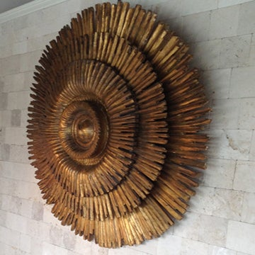 "1960's Large and Rare Spanish Wooden Wall Hanging ""Ruiz Vernacci"" Madrid For Sale 1"