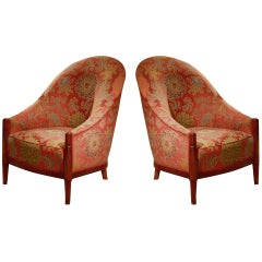 Joubert et Petit 'DIM' Pair of Club Chairs