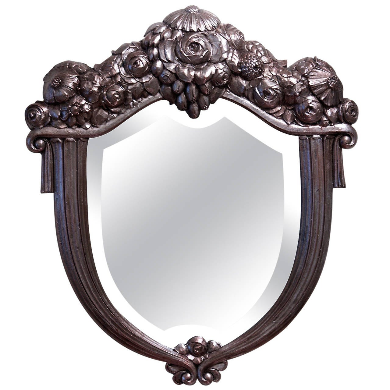Paul follot silver leaf mirror for sale at 1stdibs for Silver mirrors for sale