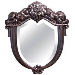 Paul Follot Silver Leaf Mirror
