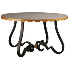 Raymond Subes Forged Iron Coffee Table