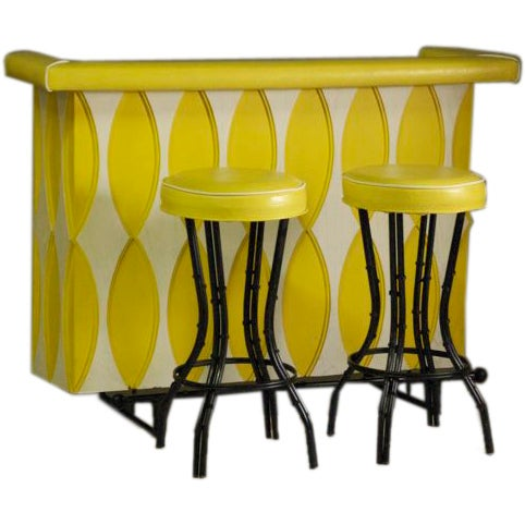 1960s Bar With Two Original Stools For Sale At 1stdibs