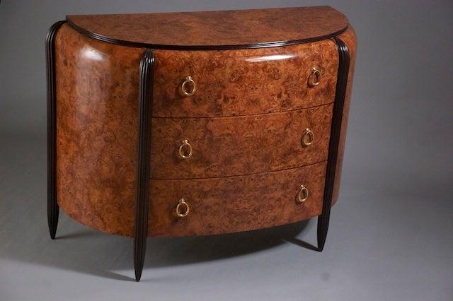 Ebonized Michel Dufet Cabinet For Sale