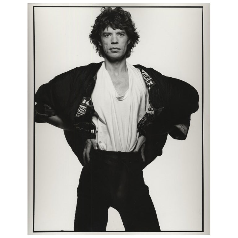Peter Lindbergh Studio Portrait of Mick Jagger