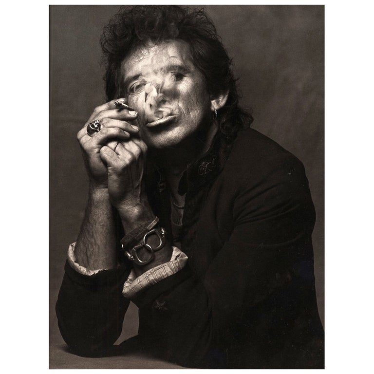 Keith Richards Smoking Print by Albert Watson