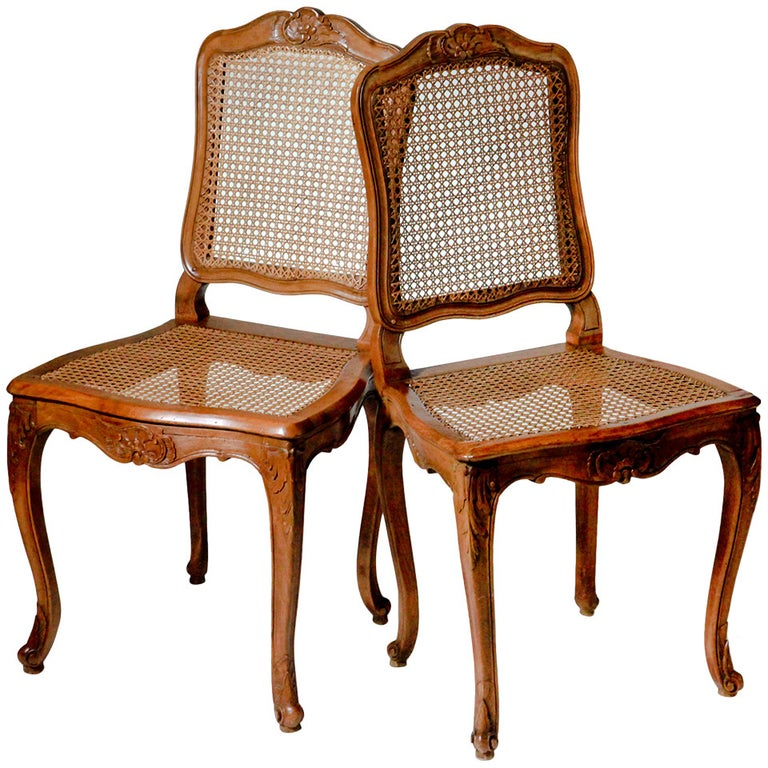 French Louis XV Caned Chairs For Sale