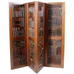 English Mahogany Book Screen