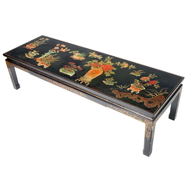 Chinese Lacquered Coffee Table At 1stdibs