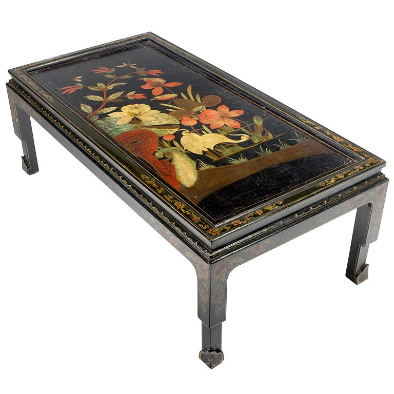 Chinese Lacquered Coffee Table For Sale