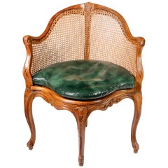 French Caned Corner Chair
