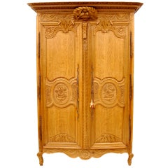 Normandy Oak Armoire
