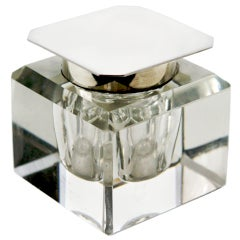 Square Crystal Inkwell