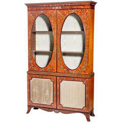 English Satinwood Vitrine