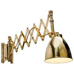 Brass Chart Room Lamp