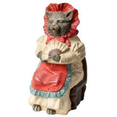Ceramic Cat Figure