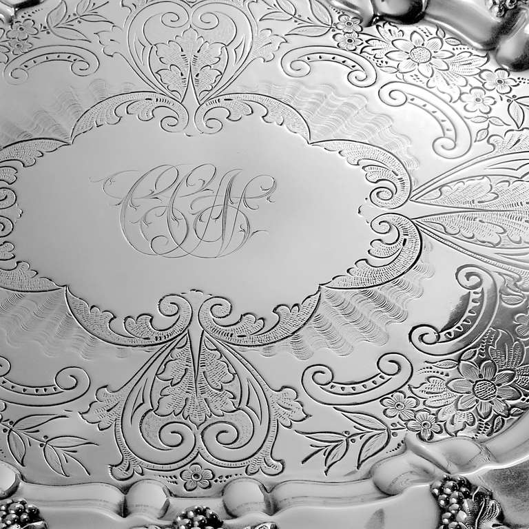 Sheffield Silver Tray In Good Condition For Sale In New York, NY