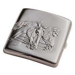 Horse Head Cigarette Case
