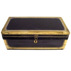 Leather and Brass Trunk