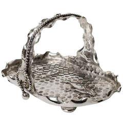 Hammered Silver Plate Basket
