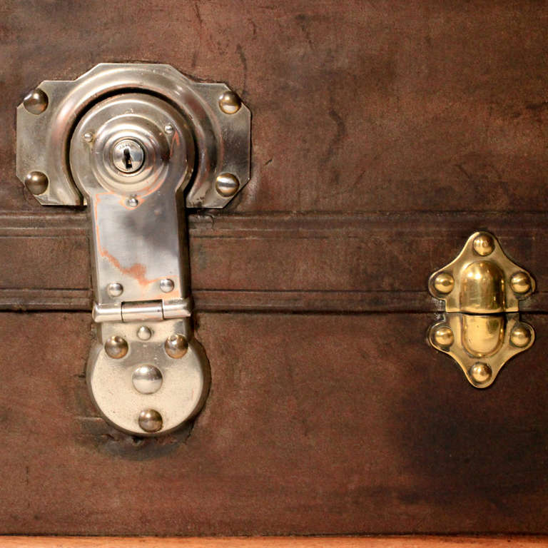 19th Century French Steamer Trunk
