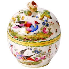 French Porcelain Bird Bowl