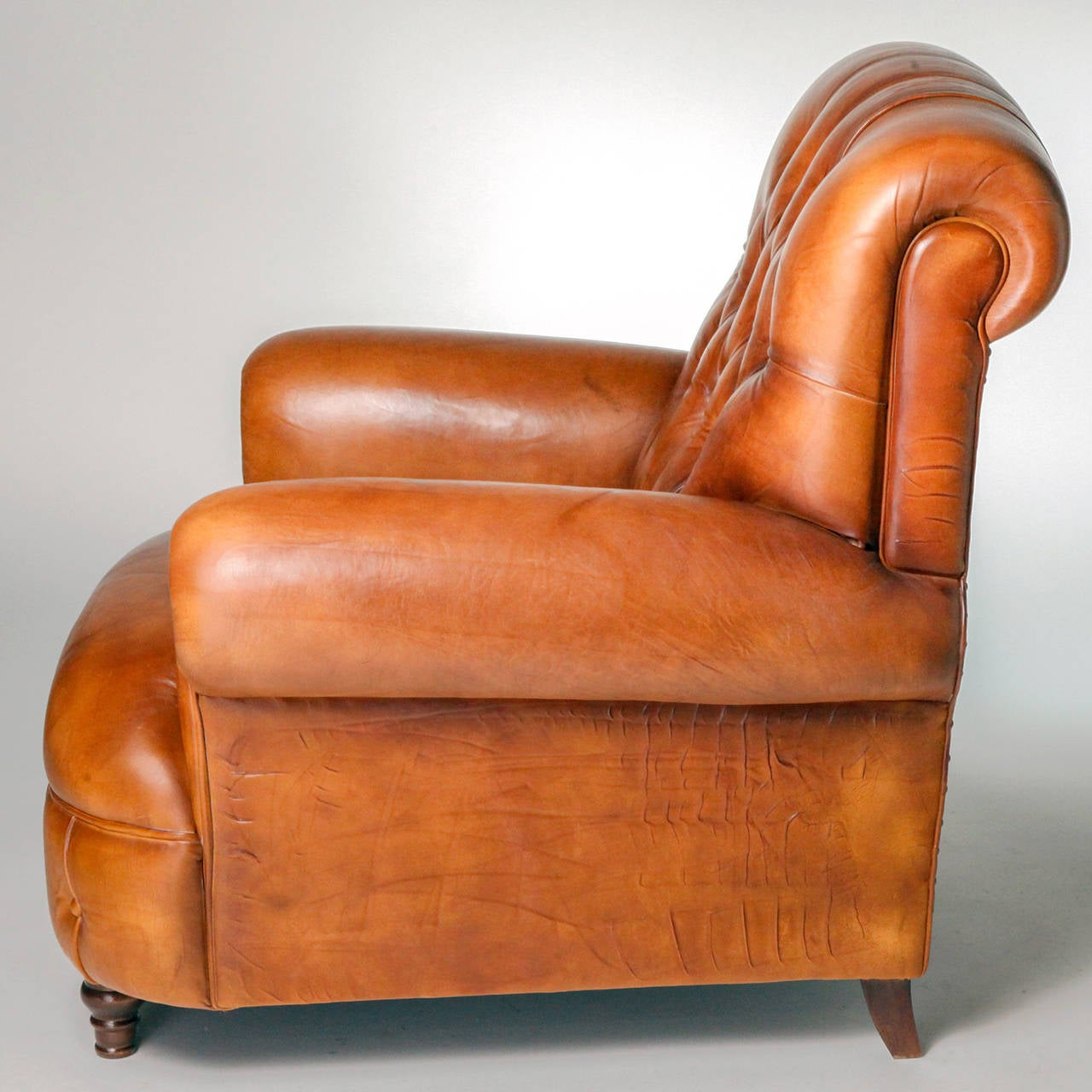 Tufted Leather Armchair at 1stdibs