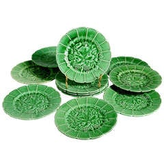 French Majolica Plates