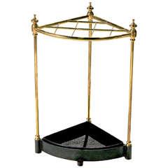 Corner Brass Stick Stand