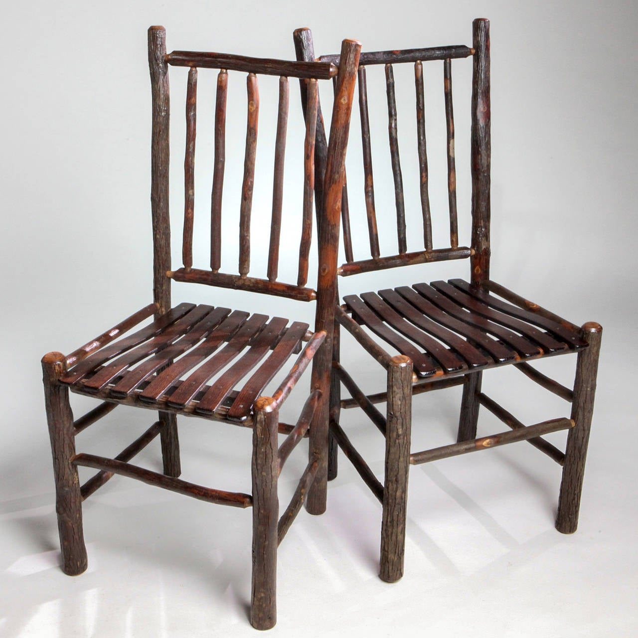 20th Century Adirondack Spindle Back Chair For Sale