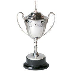 Silver Plate Golf Trophy