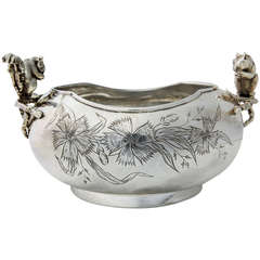 Silver Plate Nut Dish