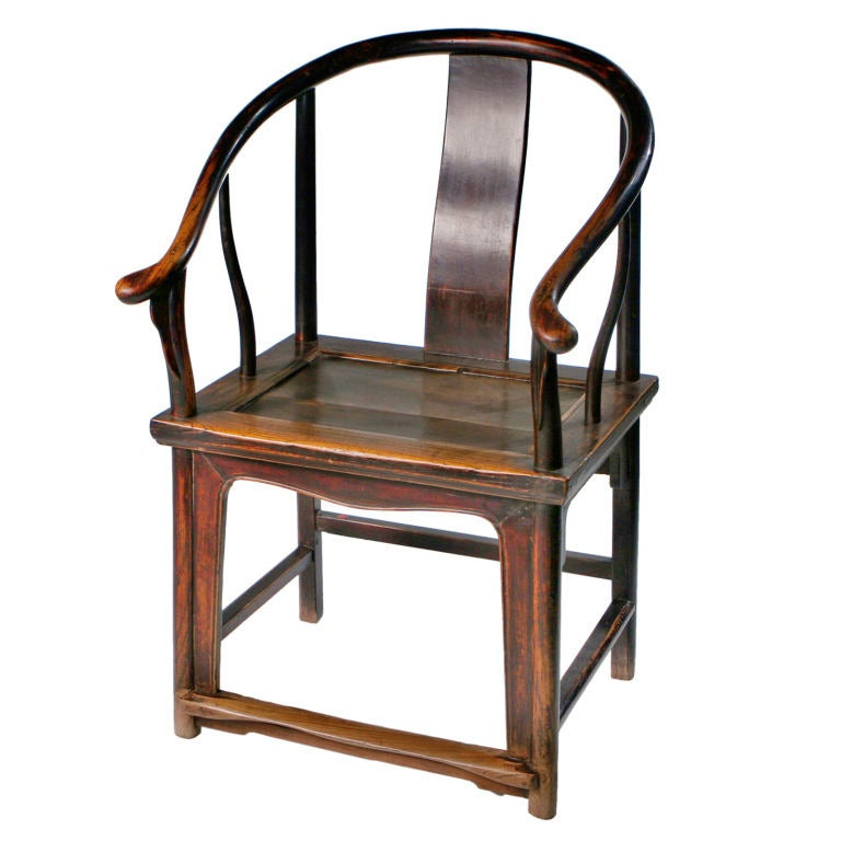Chinese Horseshoe Armchair 1