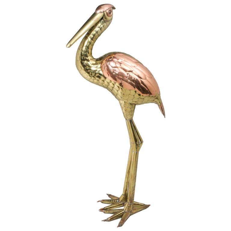 Bustamante Heron Sculpture For Sale