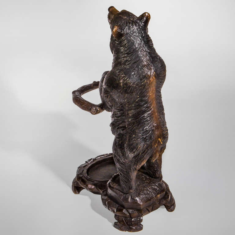 Black Forest Bear Stick Stand For Sale At 1stdibs