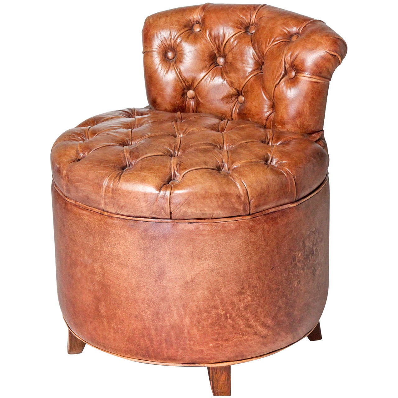 Tufted leather chair for sale at 1stdibs for Tufted couches for sale