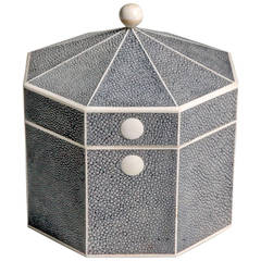 Octagonal Shagreen Jewelry Box