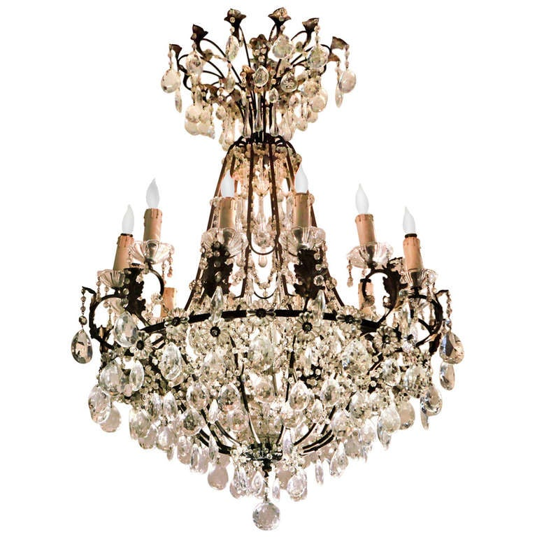 French Crystal Chandelier 1
