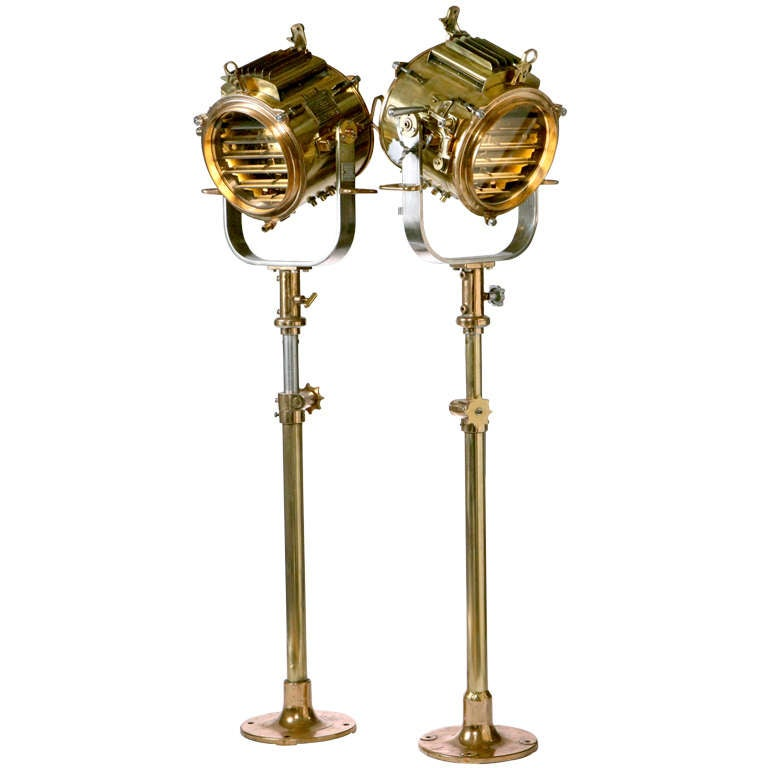 English Brass Signal Lamps For Sale